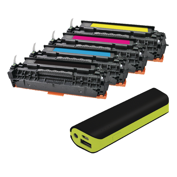 Q-Connect HP Color Laserjet CP2020/2025 Color CP2020 toner FOC Reviva 2000mAH Powerbank OB833013