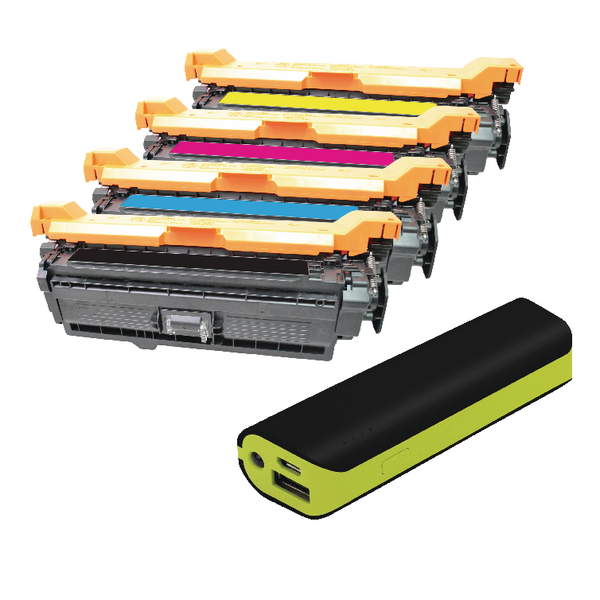 Q-Connect HP Color Laserjet M551 toner FOC Reviva 2000mAH Powerbank OB833018