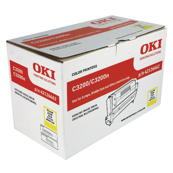 Oki C3200 Yellow Replacement Imaging Drum 42126662