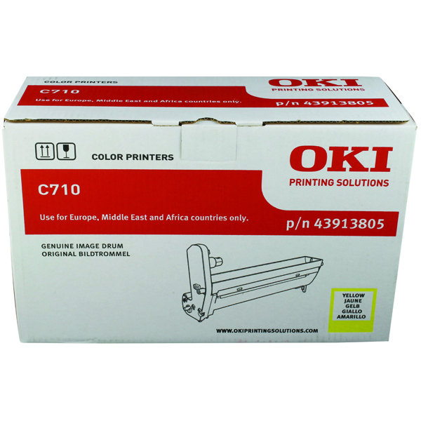 Oki C710 Yellow Image Drum 43913805
