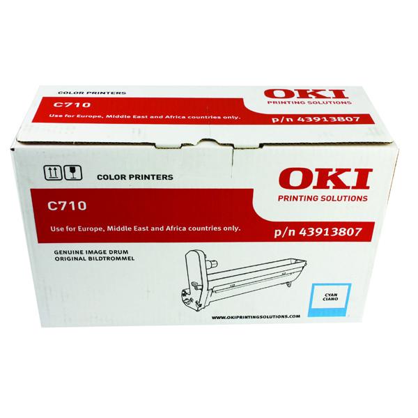 Oki C710 Cyan Image Drum 43913807