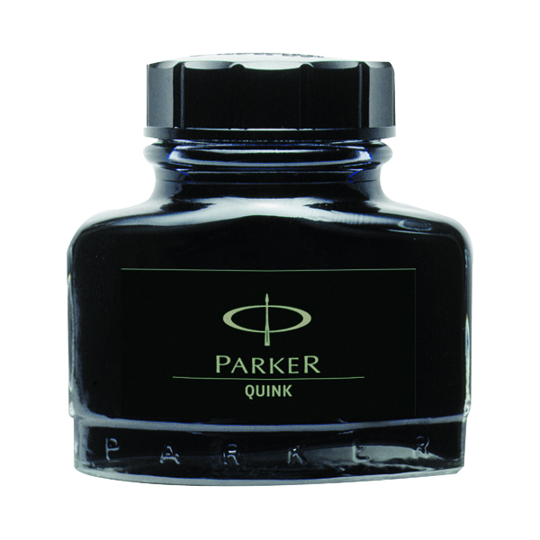 Parker Quink Black Permanent Ink Bottle 2oz S0037460