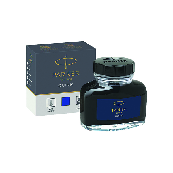 Parker Quink Blue Permanent Ink Bottle 2oz S0037470