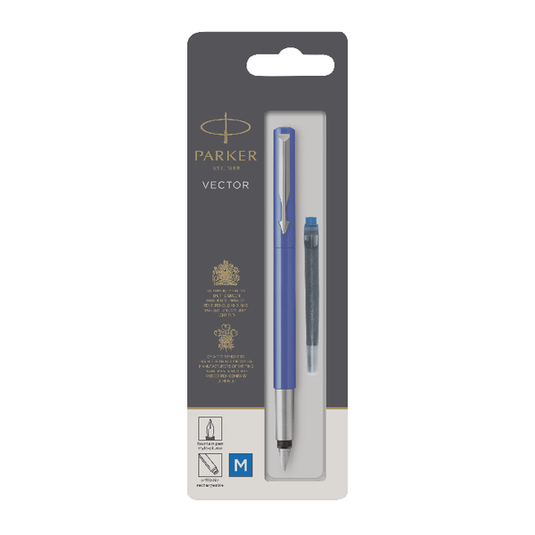 Parker Vector Fountain Blue Pen Medium 67507 S0881011