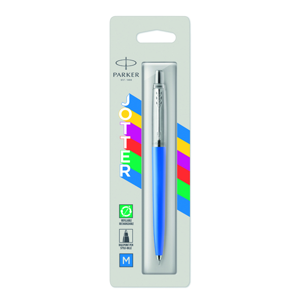 Parker Jotter Original Ballpoint Pen Medium Tip Blue Barrel Blue Ink 2076052