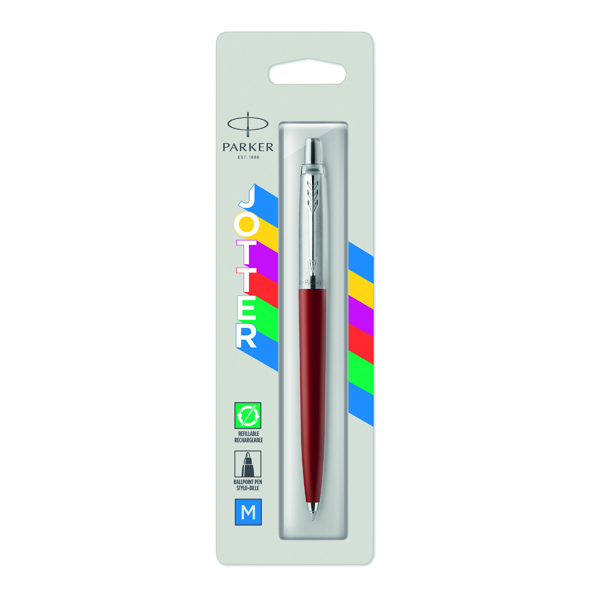 Parker Jotter Original Ballpoint Pen Medium Tip Red Barrel Blue Ink 2096857