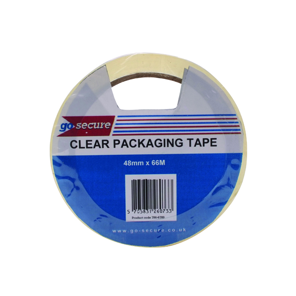 Go Secure Packaging Tape Clear 50mmx66m (6 Pack) PB02297