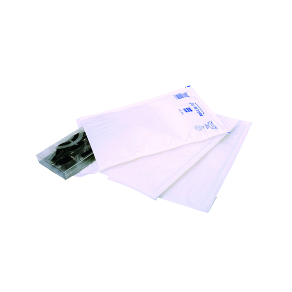 Ampac Envelopes 170x245mm Extra Strong Polythene Padded Bubble Lined White (100 Pack) KSB-2