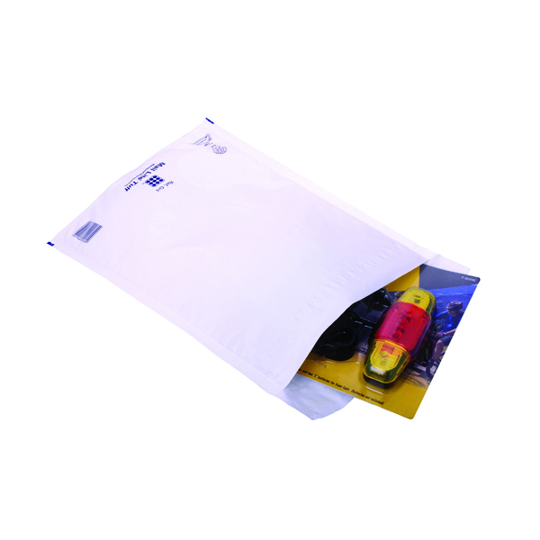 Ampac Envelopes 230x345mm Extra Strong Polythene Padded Bubble Lined White (100 Pack) KSB-3