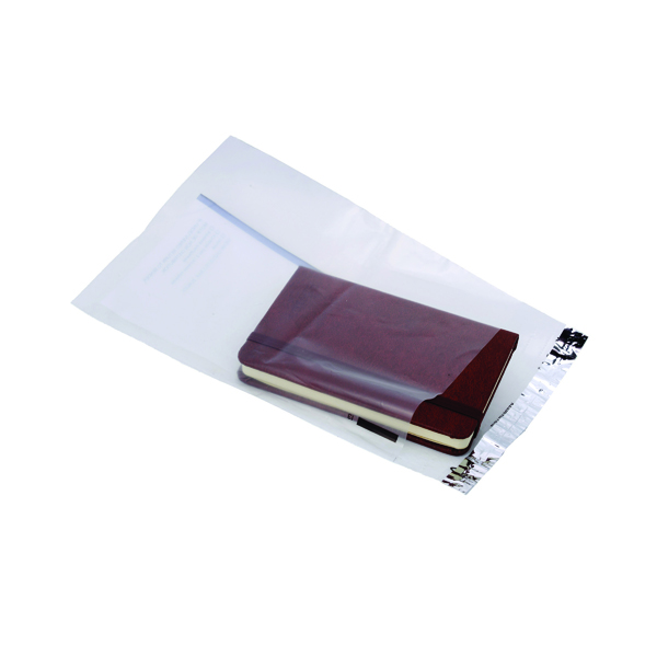 Ampac Lightweight Polythene Envelope 165 x 230mm Clear With Panel (100 Pack) KSV-LCP1