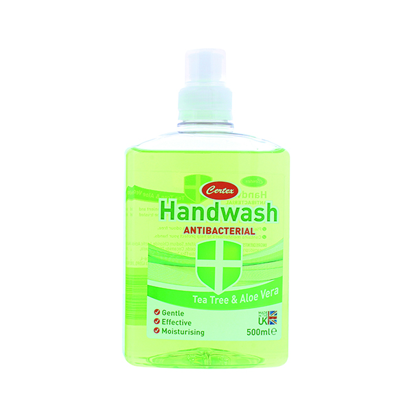 Certex Handwash Anti Bacterial Tea Tree/Aloe 500ml TOCER002 (12 Pack)