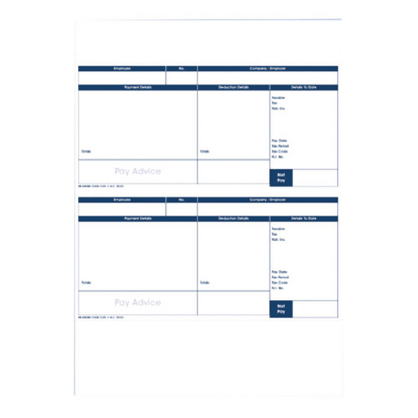 Custom Forms Pegasus Capital/Opera Payslips (500 Pack) CL95