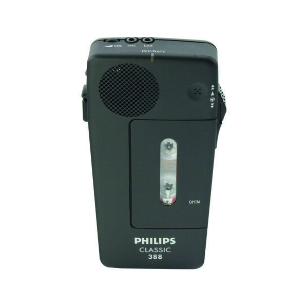 Philips Black Pocket Memo Voice Activated Dictation Recorder LFH0388