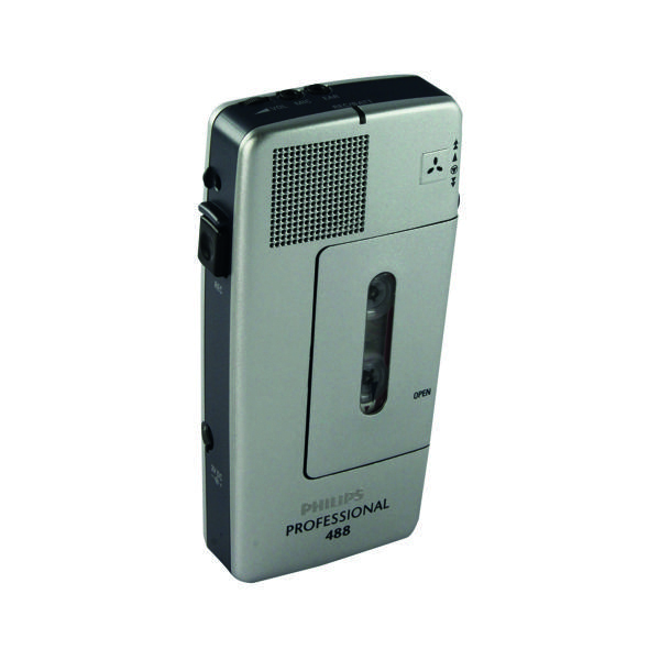 Philips Silver Pocket Memo Voice Activated Mini Cassette Recorder LFH0488