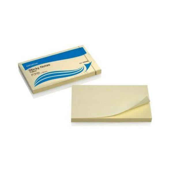 Initiative Extra Sticky Notes 76x127mm Yellow 90 Sheet Per Pad Pads