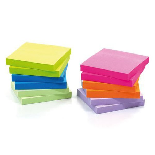 Initiative Sticky Notes Assorted 76x76mm