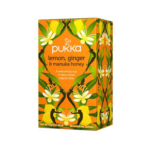 Pukka Lemon Ginger and Manuka Tea (20 Pack) P5049