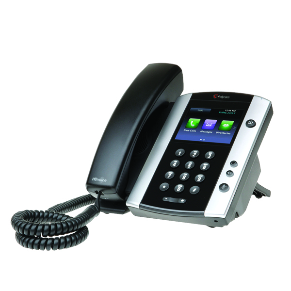 Polycom VVX 500 TFT Black Wired Handset 2200-44500-019