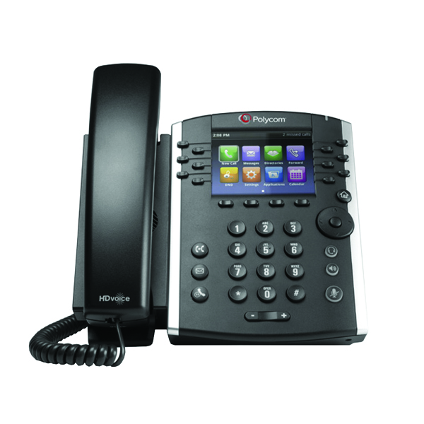 Polycom VVX 410 TFT Black Wired Handset 2200-46162-019
