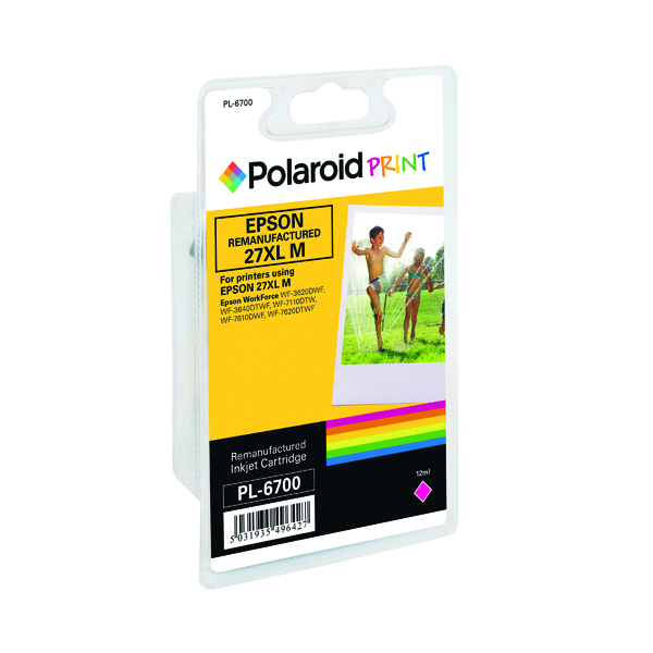 Polaroid Epson 27XL Remanufactured Inkjet Cartridge Magenta T271340-COMP PL