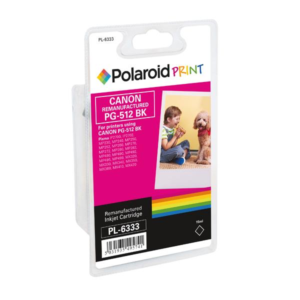 Polaroid Canon PG-512 Remanufactured High Yield Inkjet Cartridge Black 2969B001-COMP PL