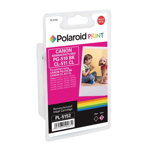 Polaroid Canon PG-510 Black / CL-511 Colour Remanufactured Inkjet Cartridge 2970B010-COMP PL