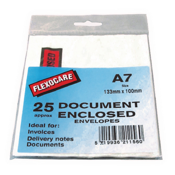 A7 Document Enclosed Envelopes for Parcels (25 Pack) 57167110