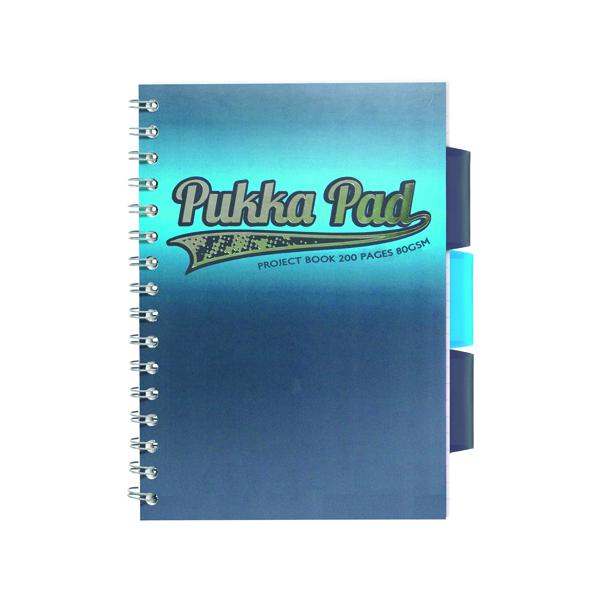 Pukka 8197-HLT Halftone A5 Assorted Project Book Pack Of 3 8197-HLT