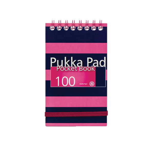 Navy/Pink A7 Navy Pocket Notebook (6 Pack) 6233-NVY