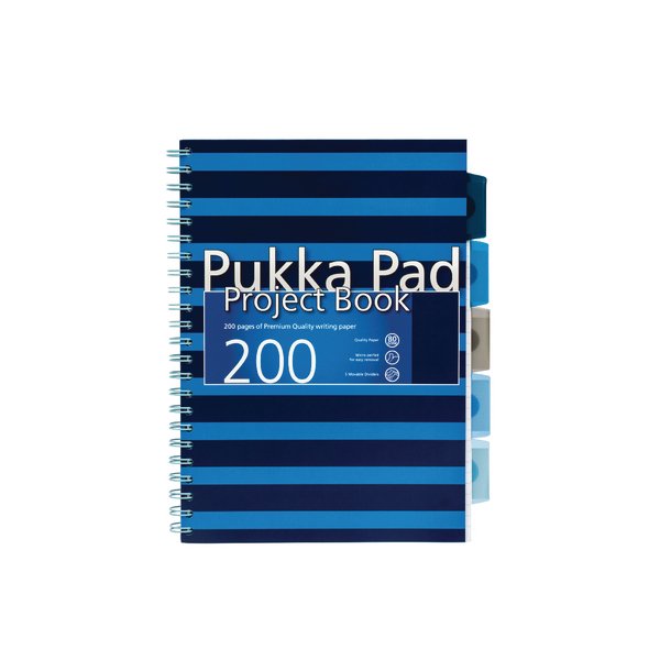 Pukka A4 Navy Project Book Navy/Blue (3 Pack) 6671-NVY