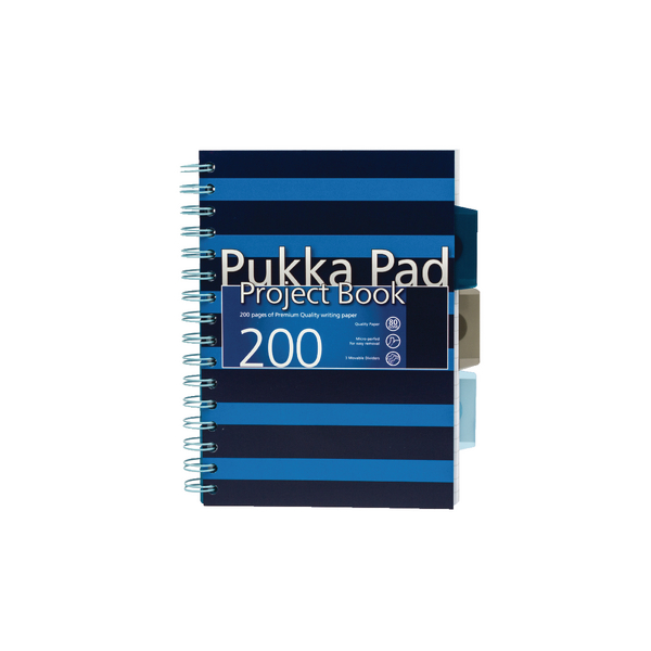 Pukka A5 Navy Project Book Navy/Blue (3 Pack) 6673-NVY