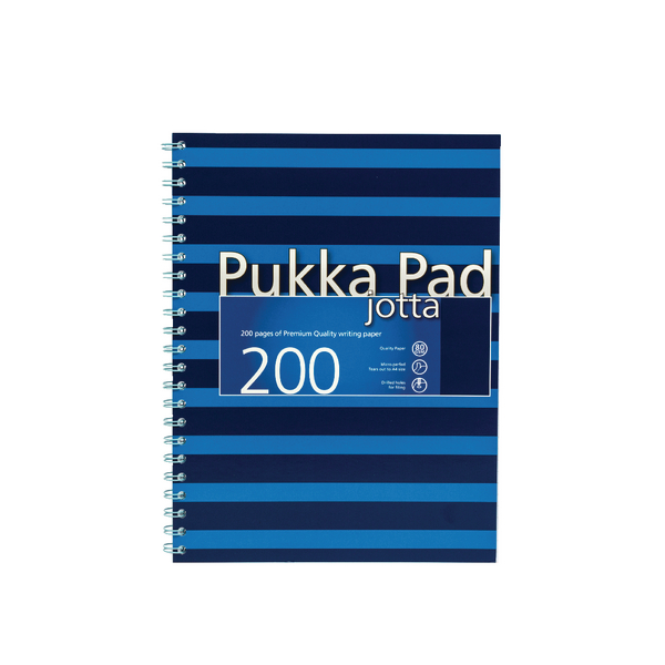 Pukka Pad A4 Feint Ruled/Margin Navy/Blue Jotta Notebook (3 Pack) 6675-NVY