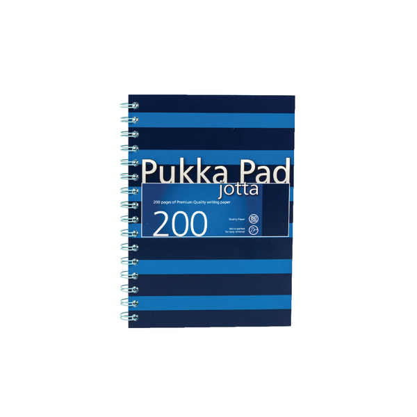 Pukka Pad A5 Feint Ruled/Margin Navy/Blue Jotta Notebook (3 Pack) 6677-NVY