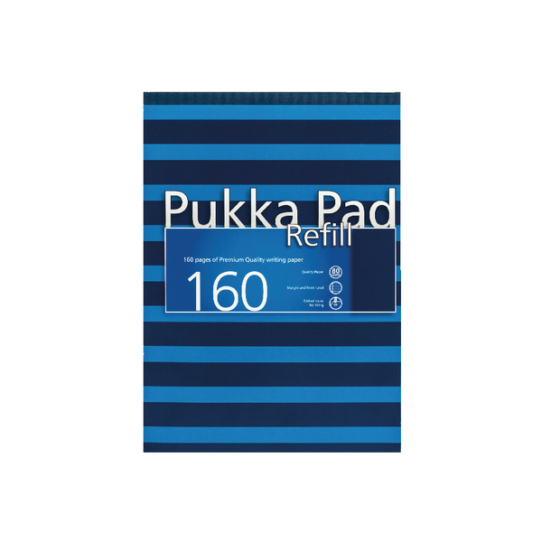 Pukka Navy A4 Refill Pad 160 Pages Navy/Blue (6 Pack) 6679-NVY