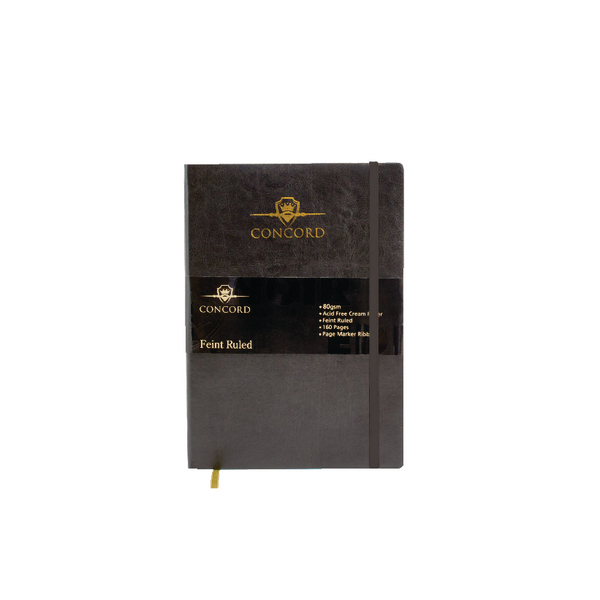 Concord Noir Flexi Notebook B5 Feint Ruled 160 Pages (3 Pack) 7536-NOI