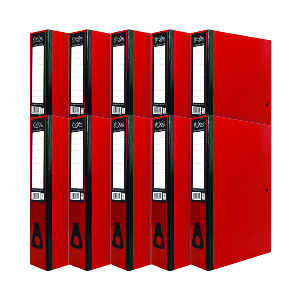Pukka Brights Box File Foolscap Red (10 Pack) BR-7774
