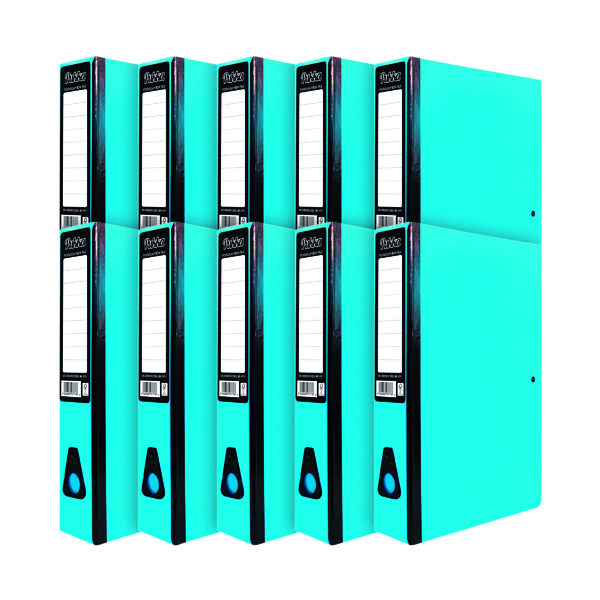 Pukka Brights Box File Foolscap Blue (10 Pack) BR-7777