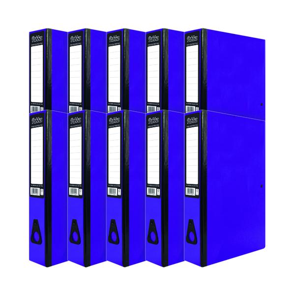 Pukka Brights Box File Foolscap Purple (10 Pack) BR-7778