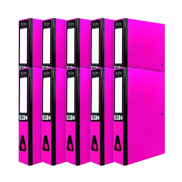 Pukka Brights Box File Foolscap Pink (10 Pack) BR-7780