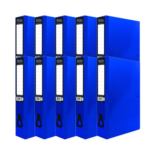 Pukka Brights Box File Foolscap Navy (10 Pack) BR-7998