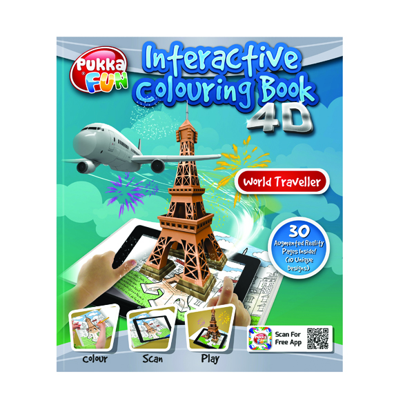 Pukka Pad Interactive Colouring Book 4D World Traveller 8423-FUN