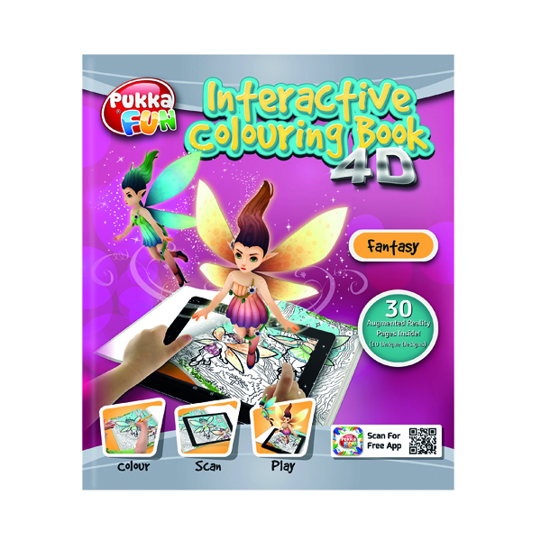 Pukka Pad Interactive Colouring Book 4D Fantasy 8425-FUN