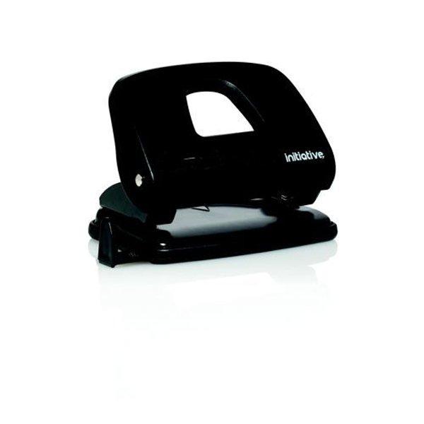 Initiative 2 Hole Punch Medium Black 22 Sheet Capacity ABS Handle