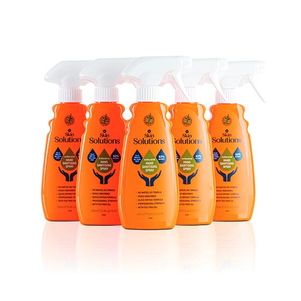Hand Sanitising Spray 64% Alcohol 250ml (6 Pack) X/8674