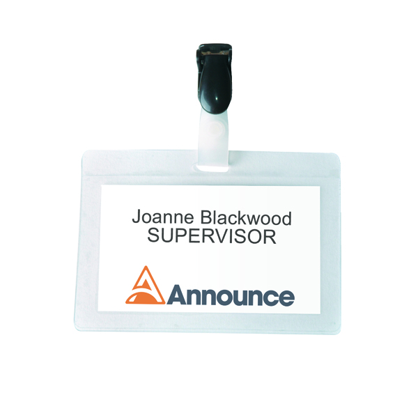 Announce Self-Laminating Badge 54x90mm (25 Pack) PV00924