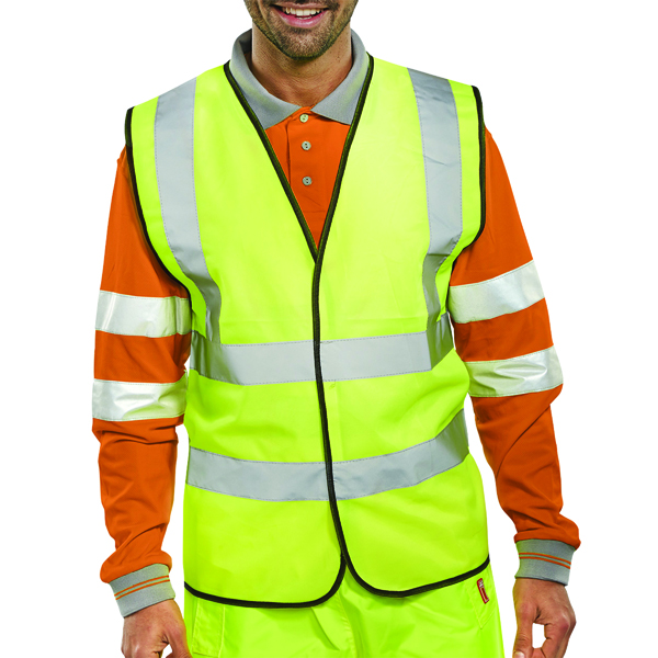 Proforce Yellow High Visibility 2-Band Waistcoat Class 2 Extra Large