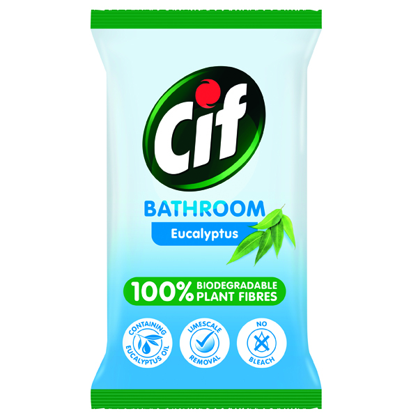 Cif Bio Bathroom Wipes Eucalyptus 80 Sheets (6 Pack) C001710