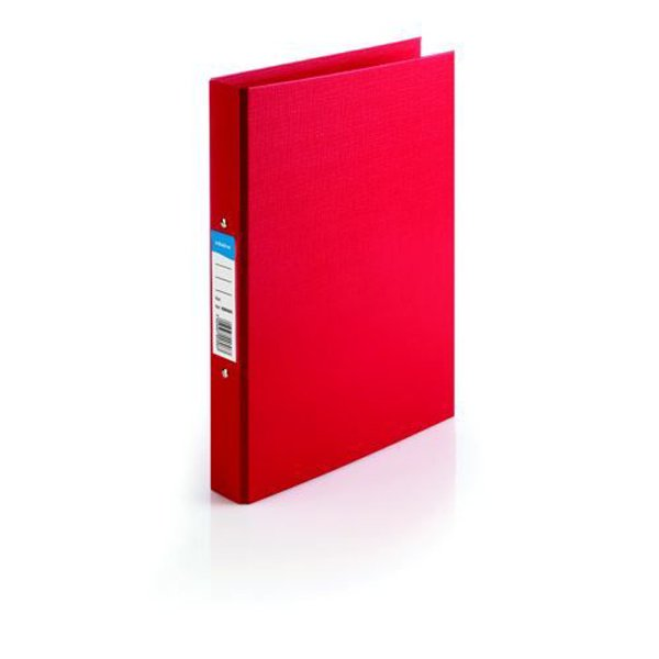 Initiative Polypropylene Coated Board 2 Ring Binder 25mm Capacity A4 Red (10 Pack)