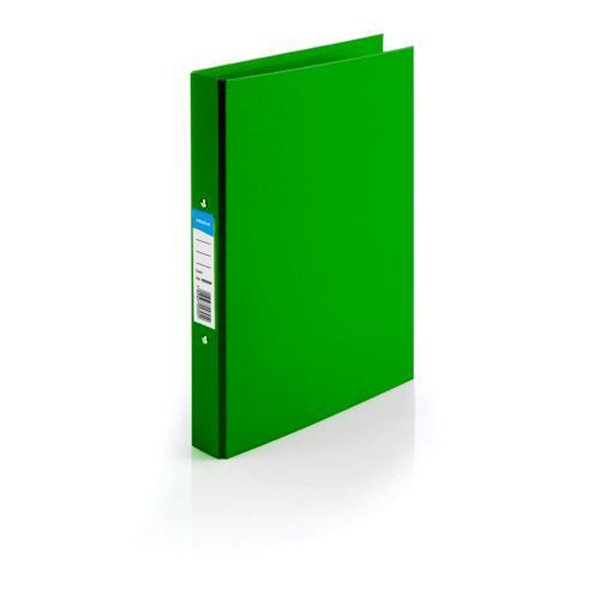 Initiative Polypropylene Coated Board 2 Ring Binder 25mm Capacity A4 Green (10 Pack)