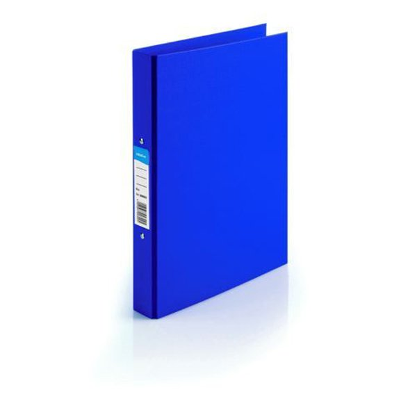 Initiative Polypropylene Coated Board 2 Ring Binder 25mm Capacity A4 Blue (10 Pack)